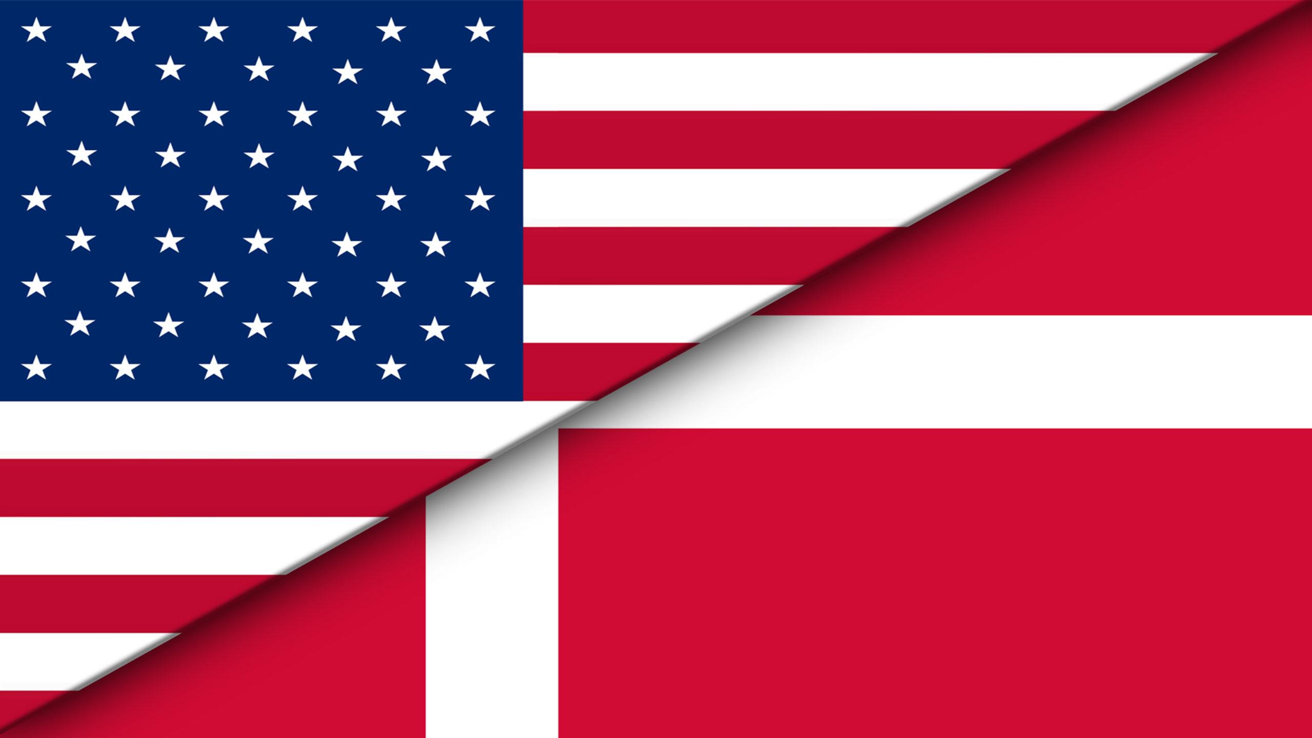 Amercan-Danish flags